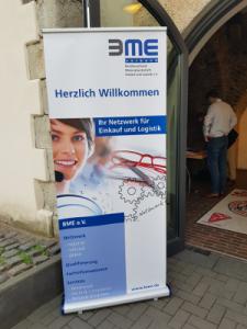 Eingang BME Köln Koelsche Funke Rut Wiess vun