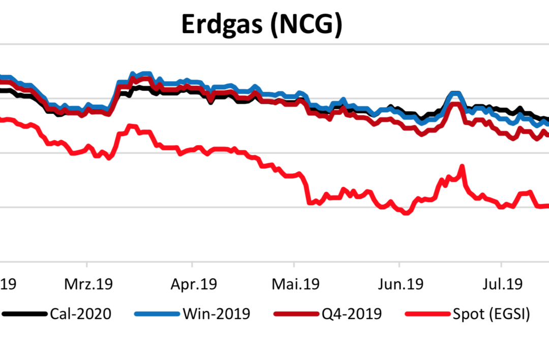 Energiemarktbericht vom 23.8.2019