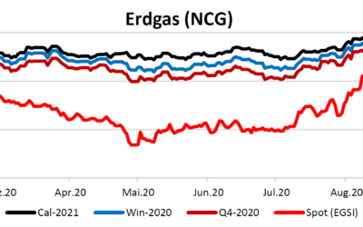 Energiemarktbericht vom 17. September 2020
