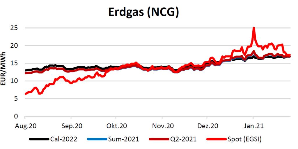 Erdgaspreise am 04.02.2021