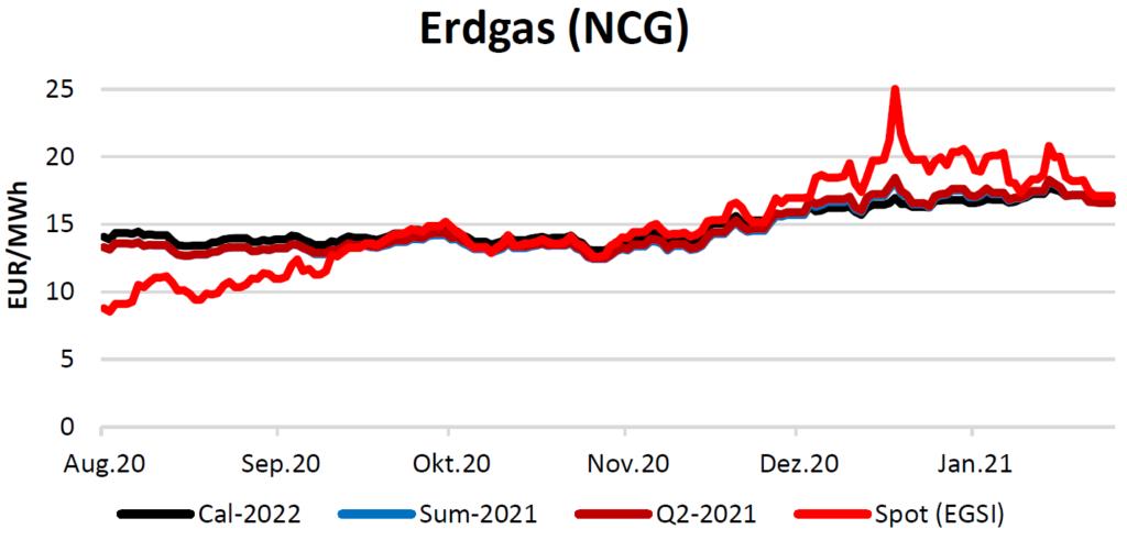 Erdgaspreise am 18.02.2021