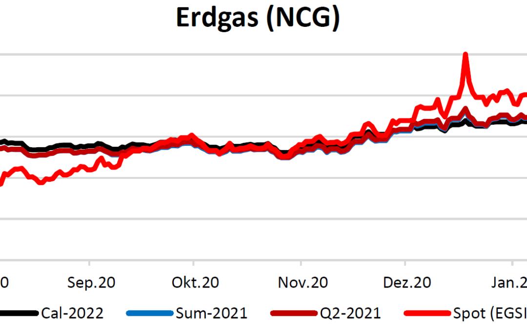 Energiemarktbericht vom 18. Februar 2021
