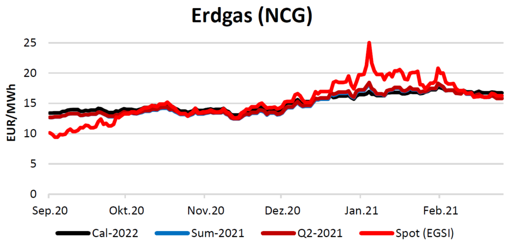 Erdgaspreise am 04.03.2021