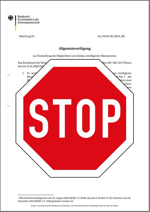 Oberverwaltungsgericht stoppt Einbauverpflichtung für intelligtente Messsysteme