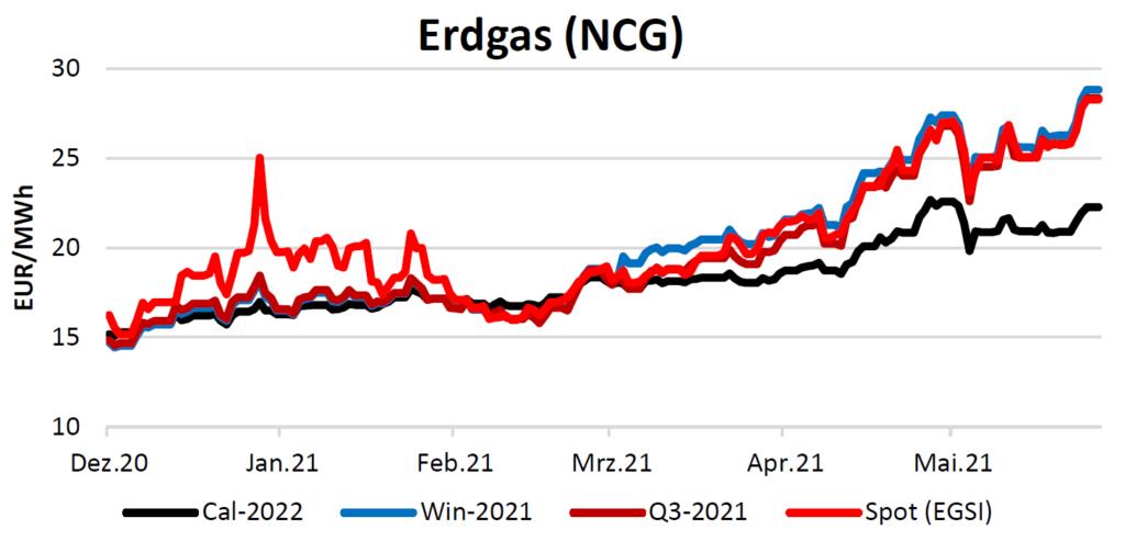 Erdgaspreise am 10.06.2021