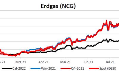 Energiemarktbericht vom 5. August 2021