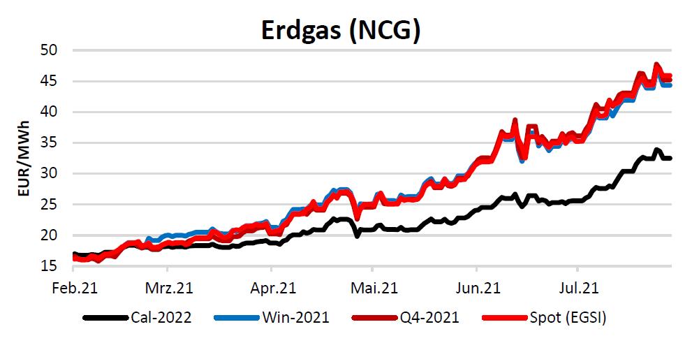 Energiemarktbericht vom 19. August 2021