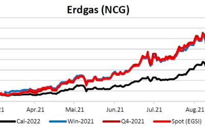 Energiemarktbericht vom 2. September 2021