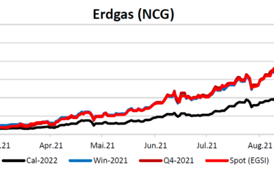Energiemarktbericht vom 16. September 2021